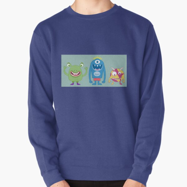 Friendly monster happy fun Pullover Sweatshirt