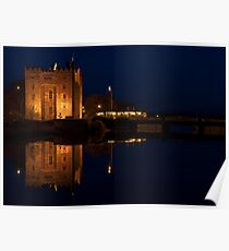 Bunratty Castle at night reflection! Poster