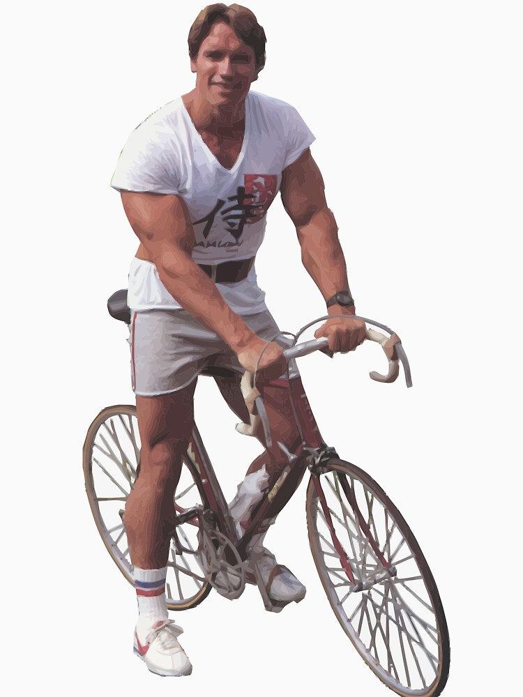 Arnold on a Bike by Hazwallace