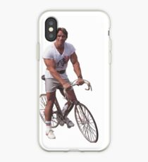Arnold on a Bike iPhone Case