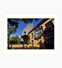 Bunratty Castle and Durty Nelly's Pub , County Clare, Ireland Art Print
