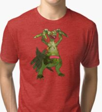 Sceptile at Home Tri-blend T-Shirt