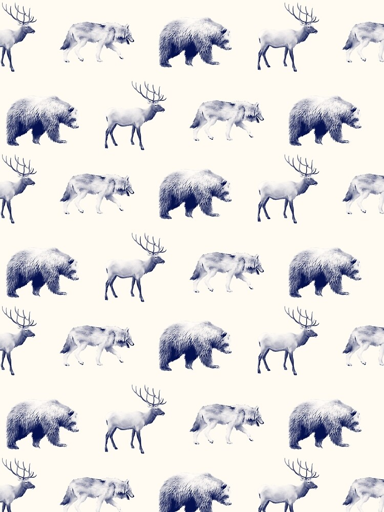 Wild Pattern // Blue by AmyHamilton
