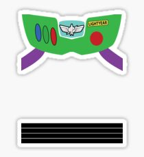 Buzz Lightyear Costume Front Sticker