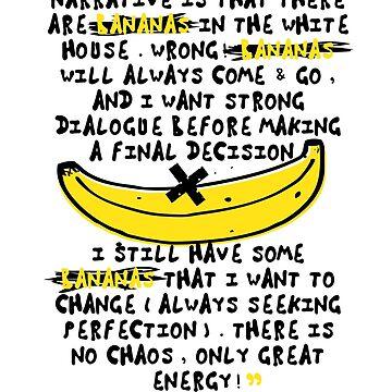 My Trump is Bananas Funny Twitter Tweet Satire by ellumination