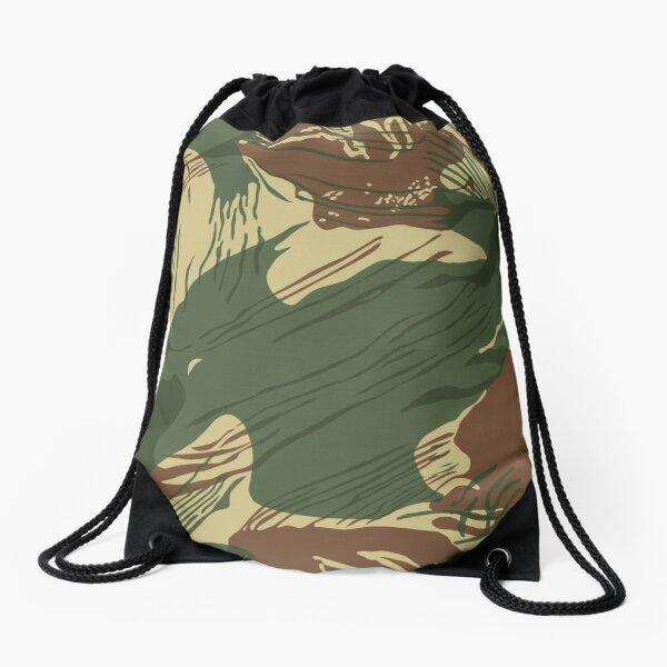 Rhodesian Brush Stroke Camouflage Drawstring Bag