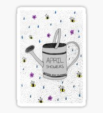 April Showers Bring May Flowers Sticker