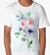 Spring Floral Long T-Shirt
