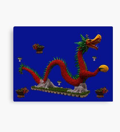 Floral Dragon in Le Thai Park, Hanoi Vietnam Canvas Print