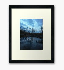 Dull blue Framed Print