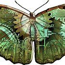 Steampunk Butterfly - Green by RetroArtFactory