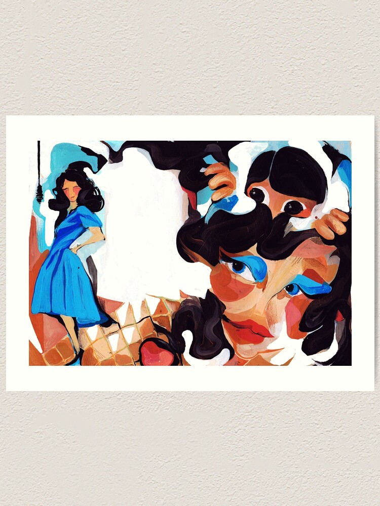 Alternate view of Daughter and Mother Children's Book Illustration Art Print