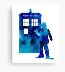The 4th Doctor with the TARDIS Canvas Print
