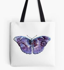 Steampunk Butterfly - Blue and Purple Tote Bag