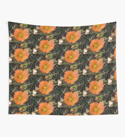Orange flower Wall Tapestry