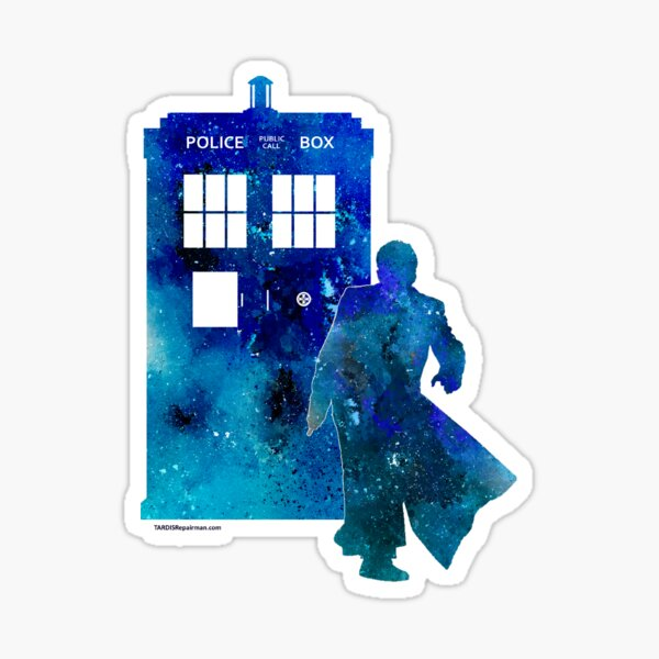 The 10th Doctor with the TARDIS Sticker