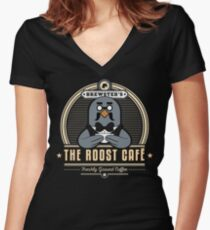 the Roost Café Women's Fitted V-Neck T-Shirt