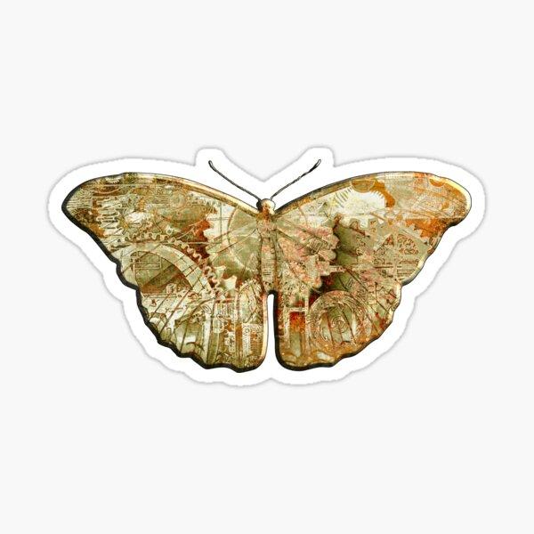 Steampunk Butterfly - Rusty Sticker