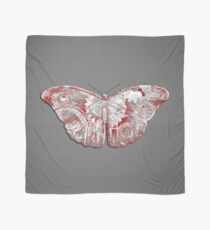 Steampunk Butterfly - Silver and Scarlet Scarf