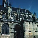 South side portal C15 Saint-Cyr-et-Sainte-Julitte-de-Nevers Cathedral Nevers France 19840828 0025 by Fred Mitchell