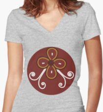 Tom Petty Wildflowers Women's Fitted V-Neck T-Shirt