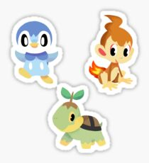 sinnoh starters Sticker