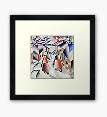 HD - Morning In The Village After Snowstorm,  by Kazimir Severinovich Malevich 1912 High Definition Framed Print