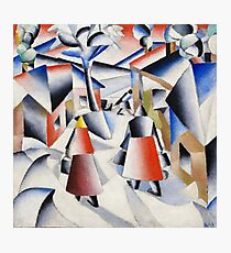 HD - Morning In The Village After Snowstorm,  by Kazimir Severinovich Malevich 1912 High Definition Photographic Print