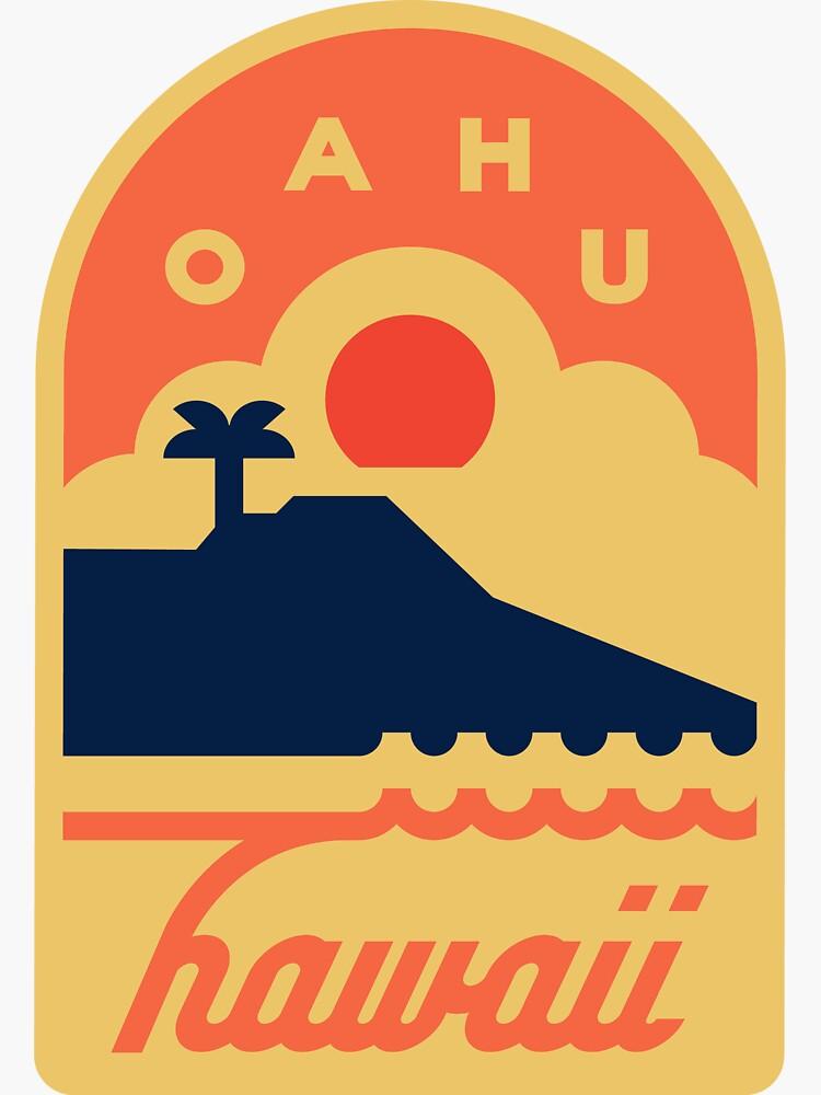 Oahu, Hawaii Badge by JamesShannon