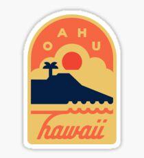 Oahu, Hawaii Badge Sticker