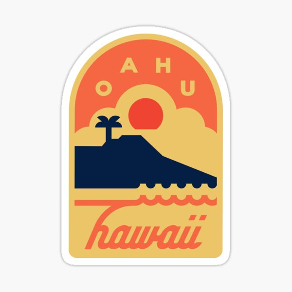 Oahu, Hawaii Badge Sticker