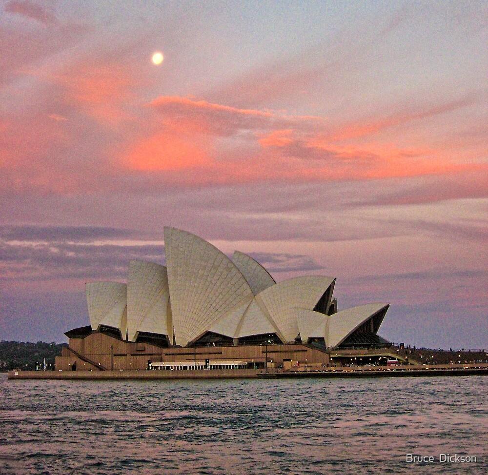 utzon sunset by Bruce  Dickson