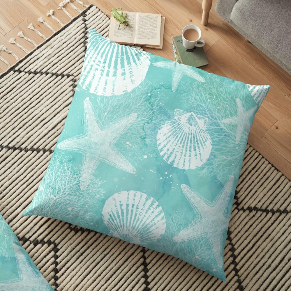 coastal Floor Pillow