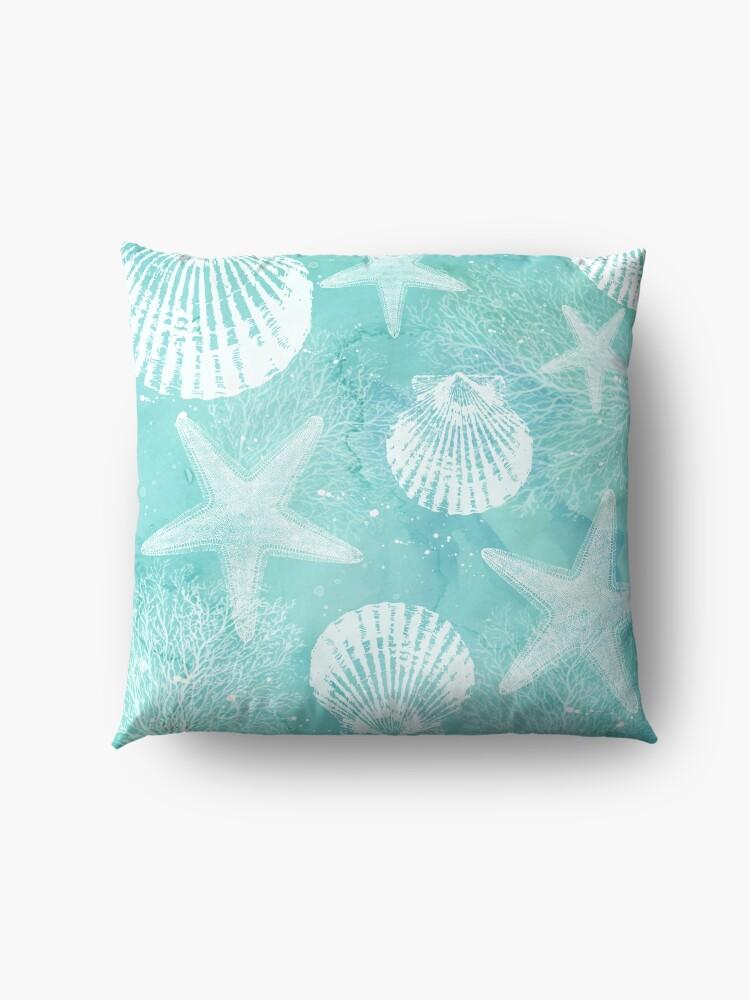 Alternate view of coastal Floor Pillow