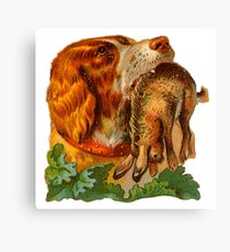 Hunting dog Canvas Print