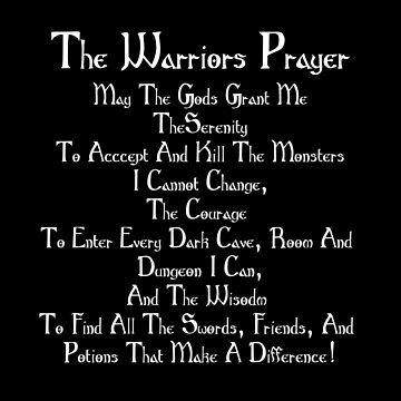 Dungeon Player Warriors Prayer Adventure RPG Games 1D20 by Koffeecrisp