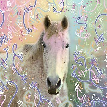 Snowy Horse by vanillakirsty
