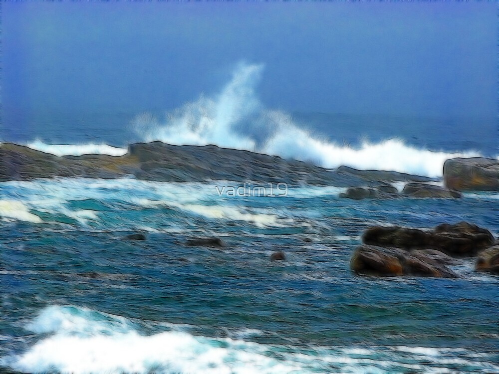 Atlantic Ocean near Cape Point, South Africa by vadim19