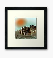 Future Suburb Framed Print