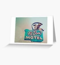 Yee-Haw - Route 66 Roadtrip - Vintage Motel Neon Sign Photography Greeting Card