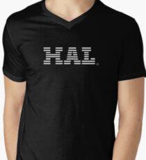 HAL White Mens V-Neck T-Shirt
