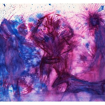 The Blue Purple Pink Cave Painting by MarkYoung