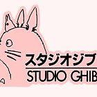 Pink Studio Ghibli Logo by waverlie