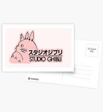 Pink Studio Ghibli Logo Postcards