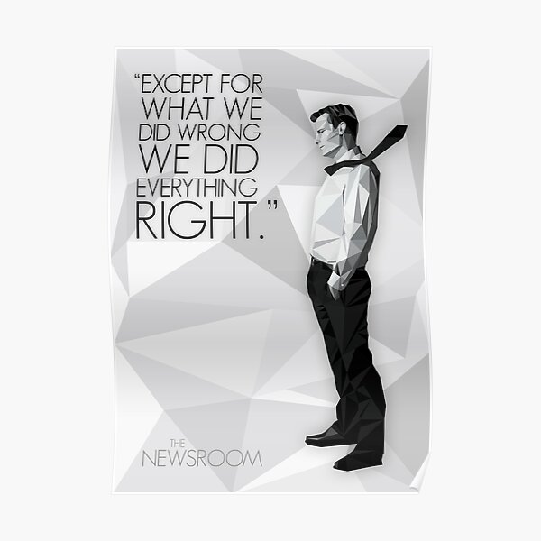 Will McAvoy - The Newsroom Poster