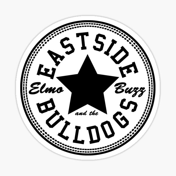 Elmo Buzz y los Eastside Bulldogs Pegatina