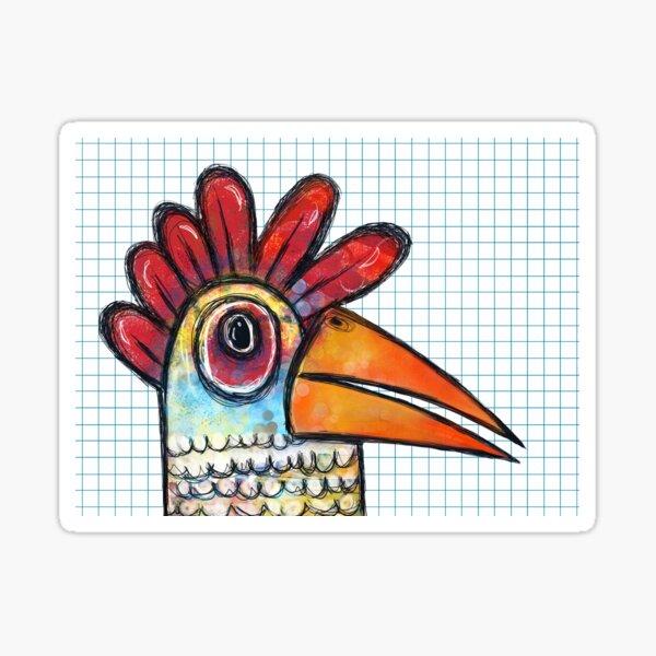 Chicken Scratch  Sticker