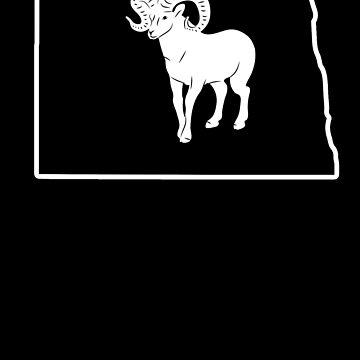 Bighorn Sheep T Shirt North Dakota Big Horned Sheep by shoppzee