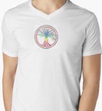 As above so below Chakra Tree Mens V-Neck T-Shirt