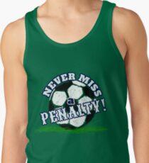 Fußball verpassen nie ein Straffußball-T-Shirt Tank Top